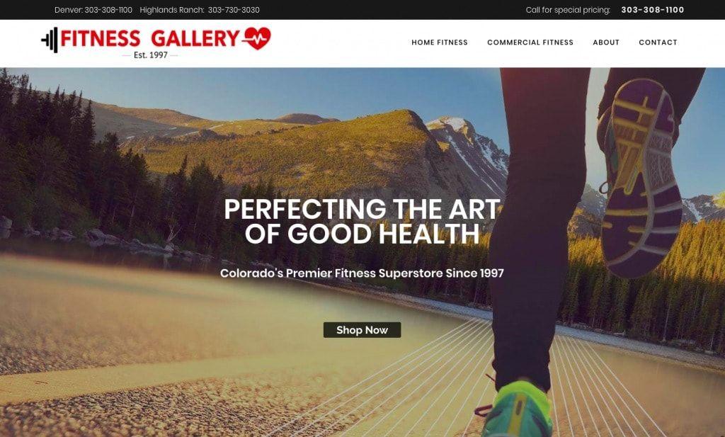 Fitness Equipment Marketing Website for https://www.fitnessgallery.com/