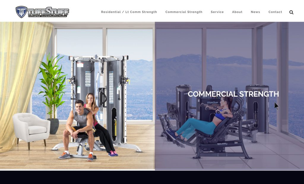 TuffStuff Fitness website by Higher Visual